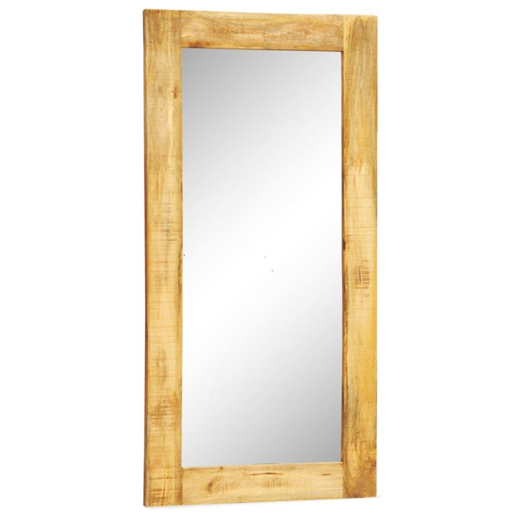 Obdélníkové nástěnné zrcadlo s rámem z masivního dřeva 120 x 60 cm
