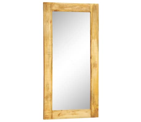 """Solid Wood Framed Rectangle Wall Mirror 47.2""""x23.6""""[1/7]"""
