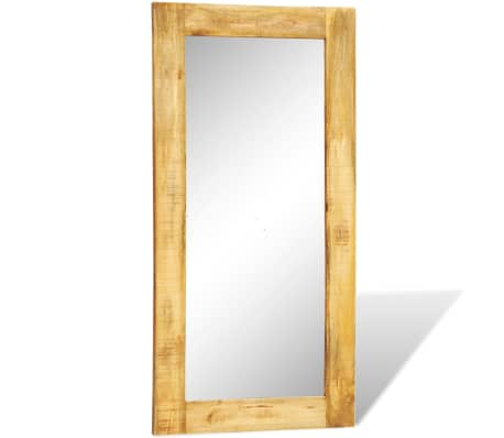 """Solid Wood Framed Rectangle Wall Mirror 47.2""""x23.6""""[2/7]"""