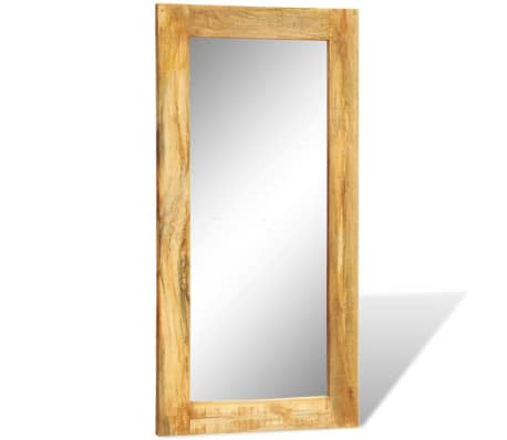 """Solid Wood Framed Rectangle Wall Mirror 47.2""""x23.6""""[5/7]"""