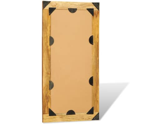 """Solid Wood Framed Rectangle Wall Mirror 47.2""""x23.6""""[7/7]"""