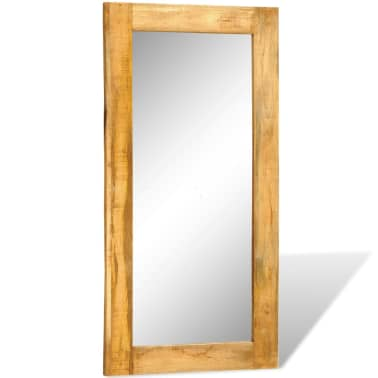 """Solid Wood Framed Rectangle Wall Mirror 47.2""""x23.6""""[3/7]"""