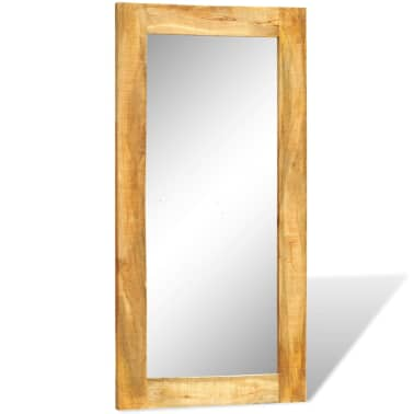 """Solid Wood Framed Rectangle Wall Mirror 47.2""""x23.6""""[4/7]"""