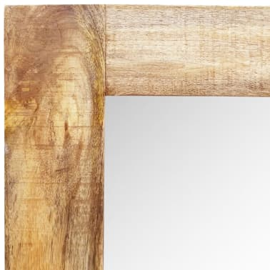 """Solid Wood Framed Rectangle Wall Mirror 47.2""""x23.6""""[6/7]"""