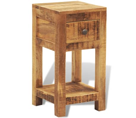 vidaXL Nightstand with 1 Drawer Solid Mango Wood[1/10]
