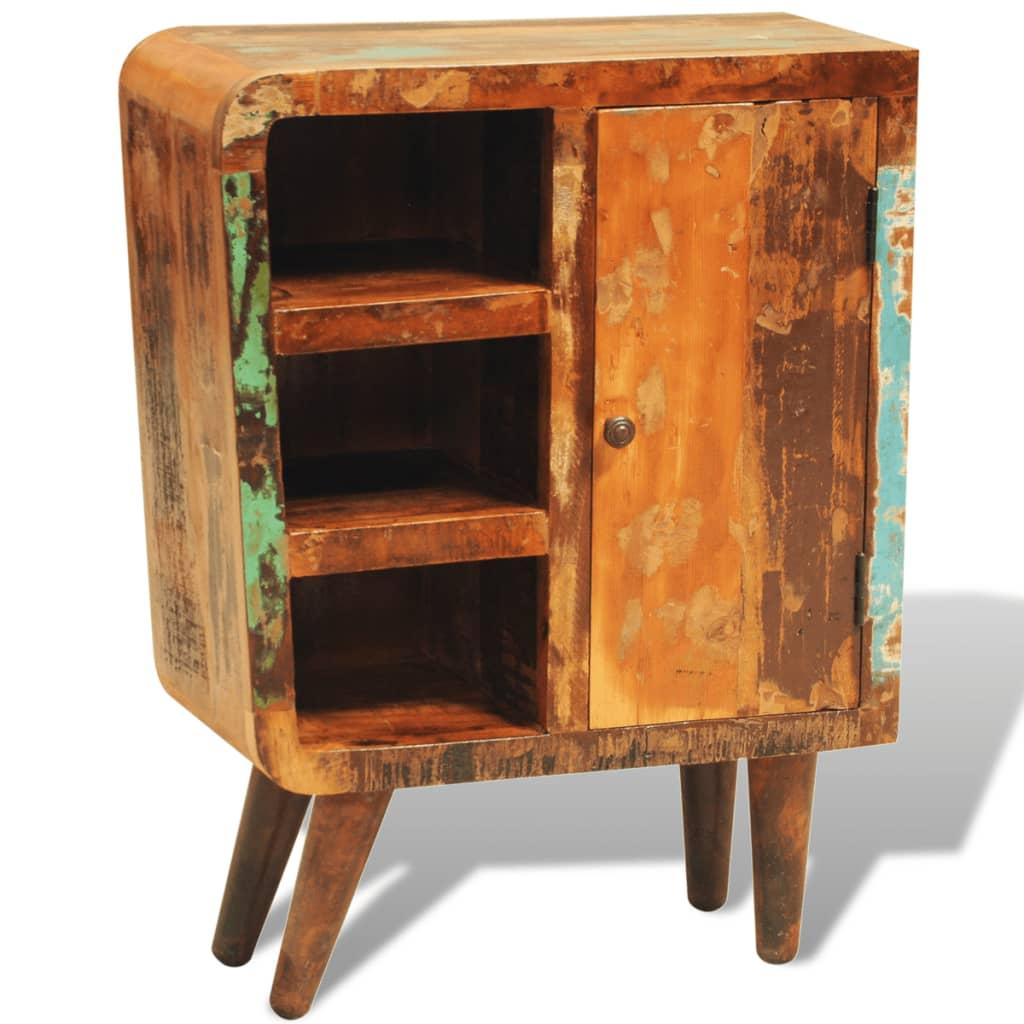 vidaXL Skříňka z recyklovaného masivního dřeva, 1 dvířka, vintage