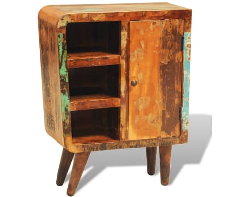 vidaXL Reclaimed Cabinet Solid Wood with 1 Door Vintage[1/11]