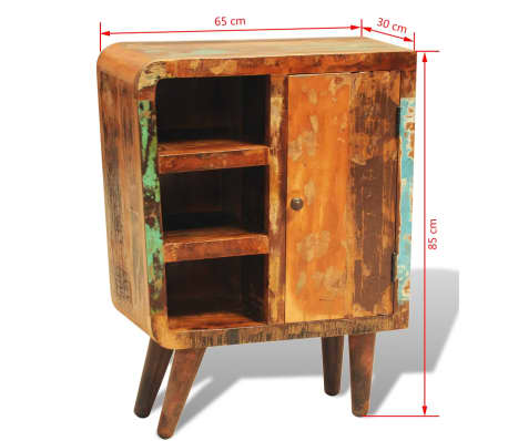 vidaXL Reclaimed Cabinet Solid Wood with 1 Door Vintage[11/11]