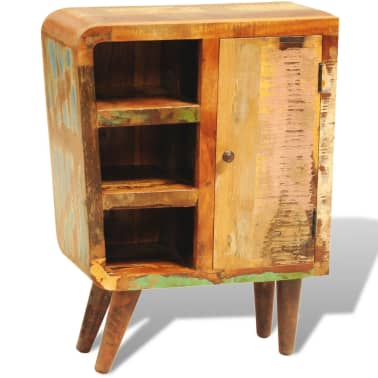 vidaXL Reclaimed Cabinet Solid Wood with 1 Door Vintage[4/11]