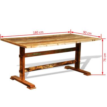 vidaXL manger Bois Table vintage de salle à recyclé 34Lc5ARjq