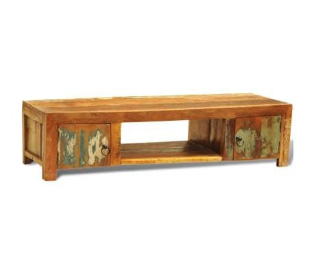 sideboard tv tisch vintage retro massivholz zwei t re. Black Bedroom Furniture Sets. Home Design Ideas