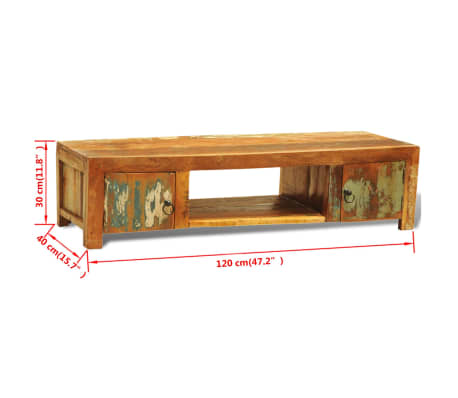 Reclaimed Wood TV Cabinet with 2 Doors Vintage Antique-style[11/11]