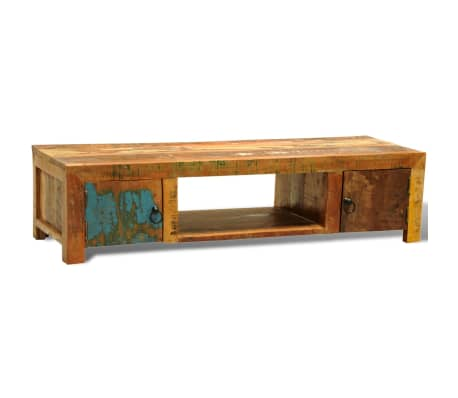 Reclaimed Wood TV Cabinet with 2 Doors Vintage Antique-style[4/11]