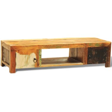 Reclaimed Wood TV Cabinet with 2 Doors Vintage Antique-style[2/11]