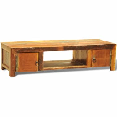 Reclaimed Wood TV Cabinet with 2 Doors Vintage Antique-style[3/11]