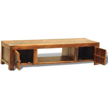 Reclaimed Wood TV Cabinet with 2 Doors Vintage Antique-style[6/11]