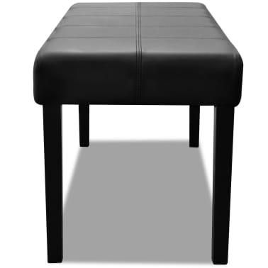 Sitzbank aus hochwertigem Kunstleder schwarz[3/5]