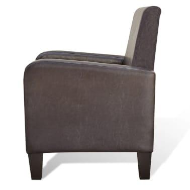 vidaXL Fotelja od Umjetne Kože Smeđa[4/5]