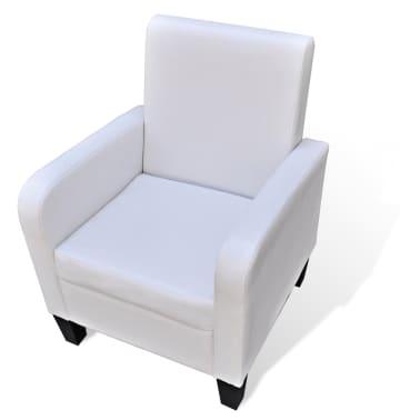 vidaXL Fotelja od Umjetne Kože Bijela[1/5]