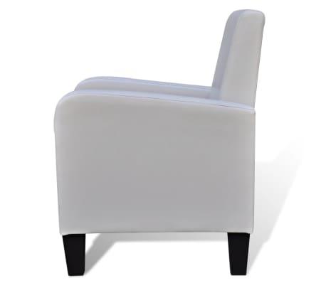 vidaXL Fotelja od Umjetne Kože Bijela[4/5]