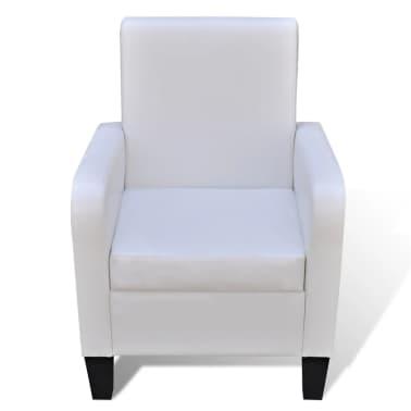 vidaXL Fotelja od Umjetne Kože Bijela[2/5]