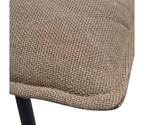 vidaXL Șezlong cu cadru metalic, material textil, maro deschis[6/7]