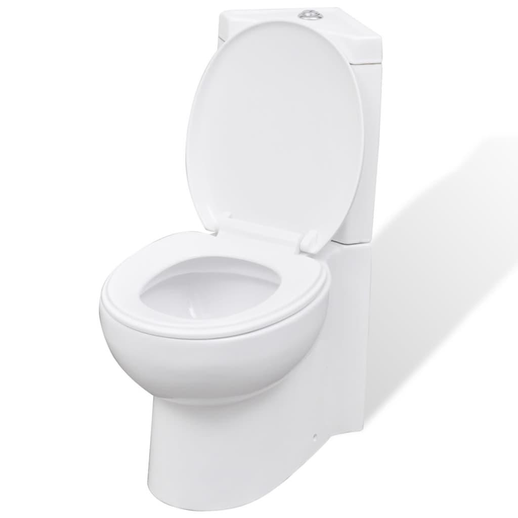 Bílá keramická kulatá toaleta  WC