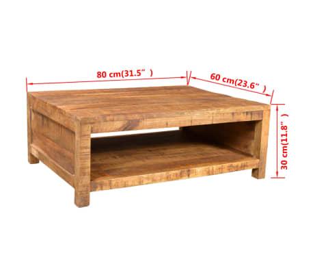 Acheter Vidaxl Table Basse Bois Massif De Manguier Pas Cher Vidaxl Fr