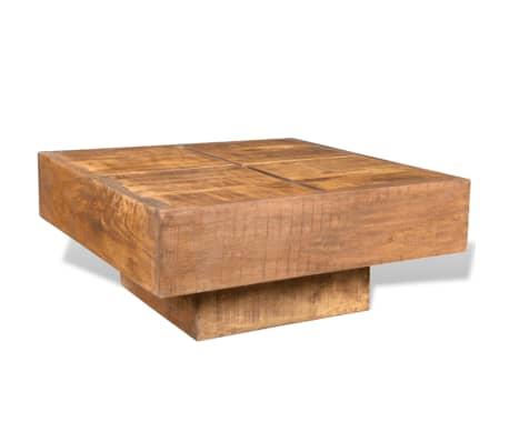 vidaXL Coffee Table Brown Square Solid Mango Wood[5/7]