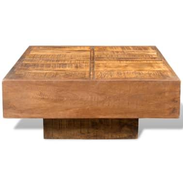 vidaXL Coffee Table Brown Square Solid Mango Wood[2/7]