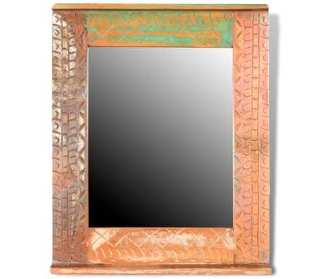 Reclaimed Solid Wood Bathroom Vanity Cabinet Set with Mirror[11/16]