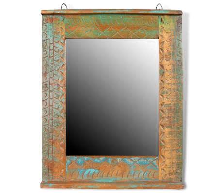Reclaimed Solid Wood Bathroom Vanity Cabinet Set with Mirror[15/16]
