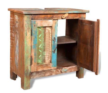 Reclaimed Solid Wood Bathroom Vanity Cabinet Set with Mirror[6/16]