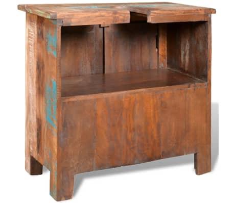 Reclaimed Solid Wood Bathroom Vanity Cabinet Set with Mirror[7/16]