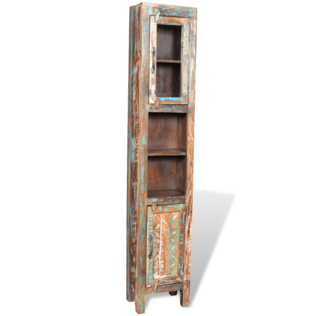 vidaXL Badkamerset met 3 kastjes en spiegel van gerecycled hout