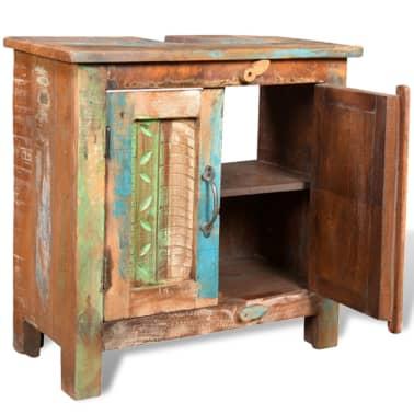 Kopalniški Set Omarica Ogledalo 2 Stranski Omari iz Predelanega Lesa[12/29]