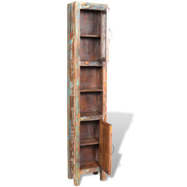Kopalniški Set Omarica Ogledalo 2 Stranski Omari iz Predelanega Lesa[4/29]