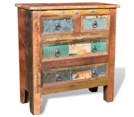 vidaXL Reclaimed Cabinet Solid Wood with 4 Drawers[1/12]