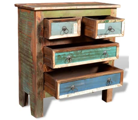vidaXL Reclaimed Cabinet Solid Wood with 4 Drawers[4/12]