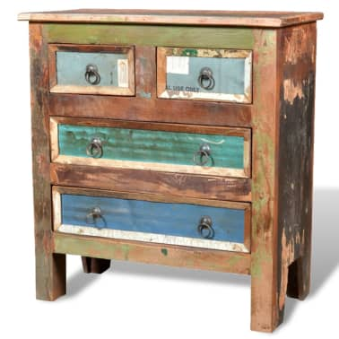 vidaXL Reclaimed Cabinet Solid Wood with 4 Drawers[5/12]