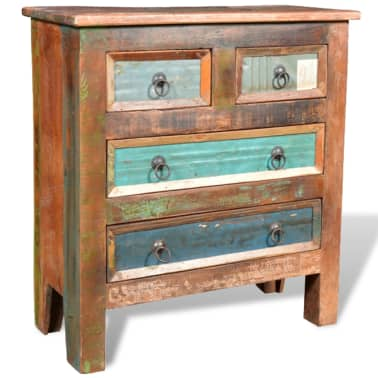 vidaXL Reclaimed Cabinet Solid Wood with 4 Drawers[9/12]