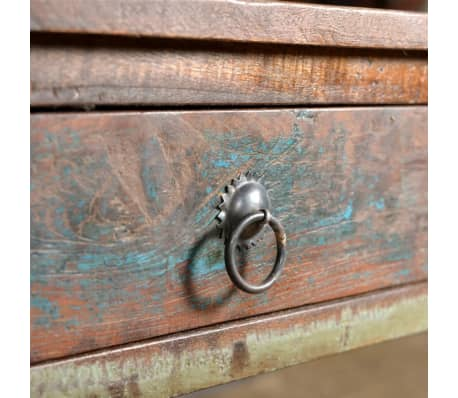 vidaXL Console Table with 3 Drawers Reclaimed Wood[7/12]