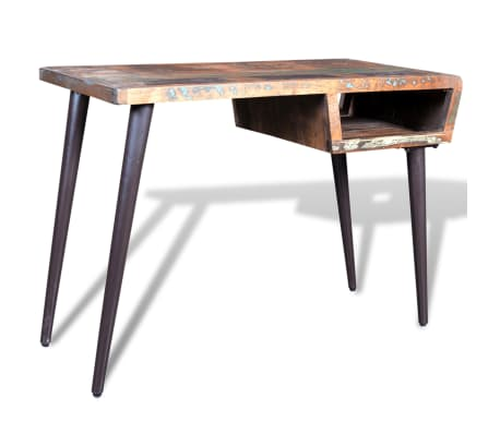 Reclaimed Wood Desk with Iron Legs[1/8]