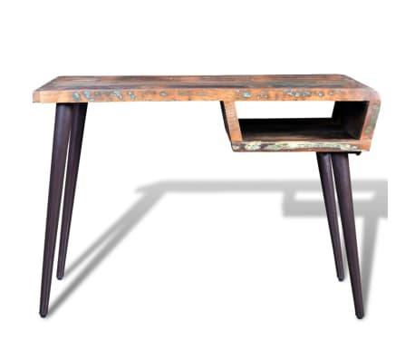 Reclaimed Wood Desk with Iron Legs[2/8]