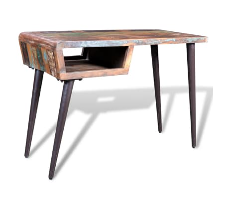 Reclaimed Wood Desk with Iron Legs[4/8]