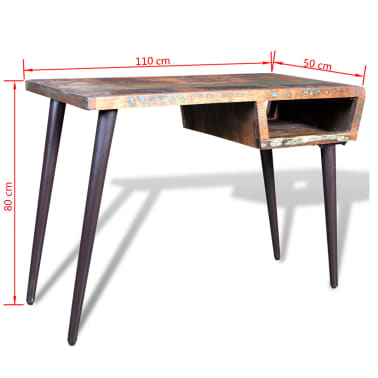 Reclaimed Wood Desk with Iron Legs[8/8]