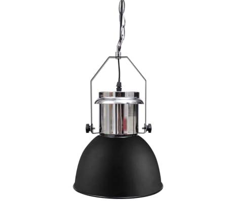 vidaXL Plafondlampen in hoogte verstelbaar modern metaal zwart 2 st[4/12]