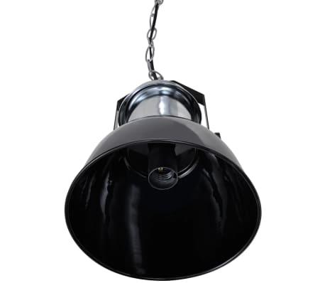 vidaXL Plafondlampen in hoogte verstelbaar modern metaal zwart 2 st[5/12]