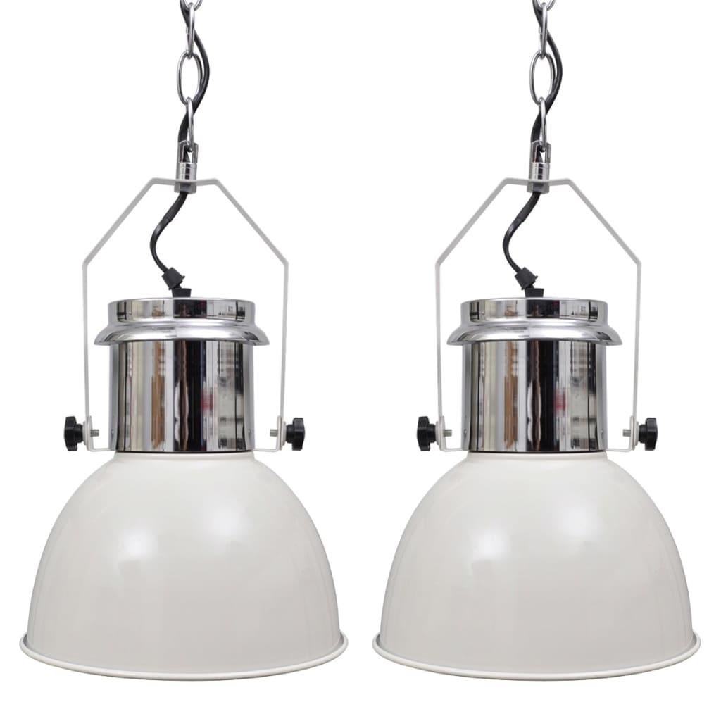 Stropní lampa 2 ks s nastavitelnou výškou moderní bílá kovová
