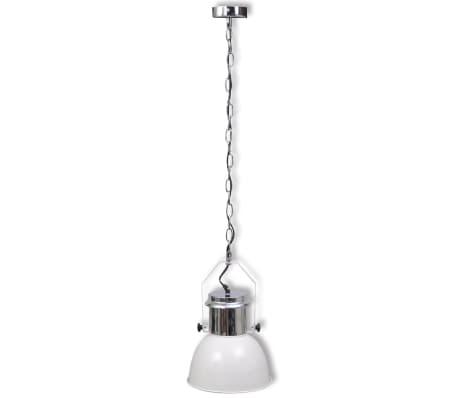 vidaXL Plafondlampen in hoogte verstelbaar modern metaal wit 2 st[3/12]